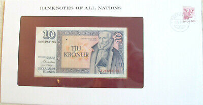 Banknotes of all Nations Iceland 1981 10 Kronur UNC P-48a.3 sign 42 Prefix A