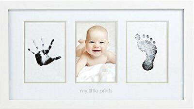 Pearhead Baby Prints Newborn Handprint and Footprint Photo Frame Kit Safe Cle...