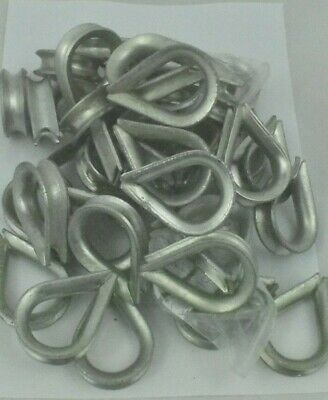 Thimbles Galvanised Wire Rope Size 10 Job Lot of 42 items