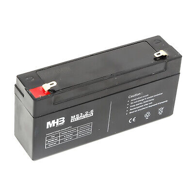 MHB Lead Acid Sealed Rechargeable Battery 6v 3.2A Portable Communication Radio