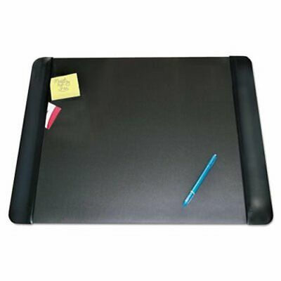 Artistic Desk Pad with Leather-Like Side Panels, 24 x 19, Black (AOP413841)