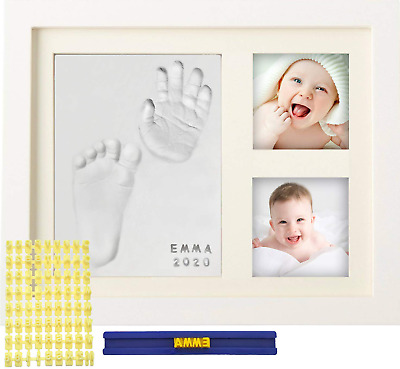 MyMiniJoy Baby Handprint Kit and Footprint Picture Frame Kit for Baby Gifts, Kee
