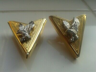 Vintage Metal Collar Tips Eagle Design (Rock And Roll Elvis Cowboy Related)