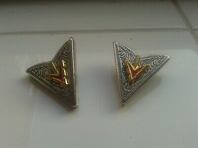 Vintage Metal Collar Tips Tree Design (Rock And Roll Elvis Cowboy Related)