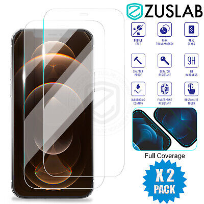 For Apple iPhone 12 11 Pro XS XR Max 8 7 6s Plus Tempered Glass Screen Protector