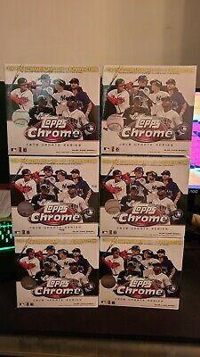 Lot Of 6 Topps Chrome 2020 Update Series Mega Box Mlb Baseball Factory Sealed
