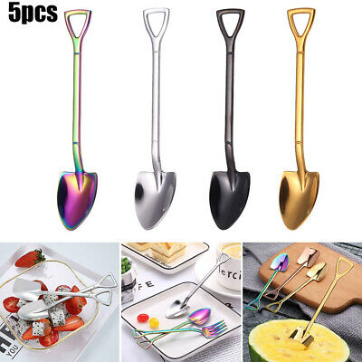 Stainless Steel Shovel Spoon Fork Pitchfork Style Party Dining Tableware C