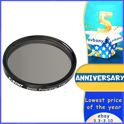 """2"""" Linear Polarizer Telescope Filter Optical Glass for Astro Planetary Observing"""