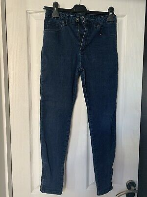River Island Boys Denim Skinny Jeans With Zip Detail 12 Years