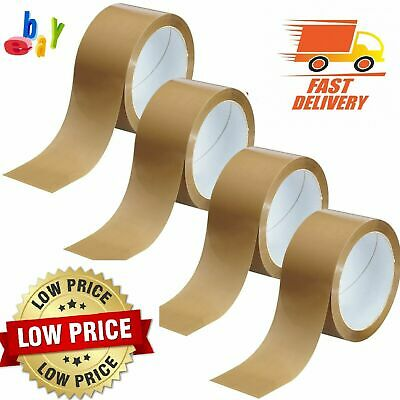 LONG LENGTH BROWN BUFF CLEAR PACKING TAPE PARCEL THICK STRONG 48mmx 66M 48mmx50M