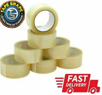 CLEAR TAPE LONG LENGTH STRONG PACKING PARCEL CARTOON SEALING 48mm x66m 48mmx 50m