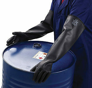 Polyco SC104/10 Chemprotec Unlined Natural Rubber Glove 44 cm Size 10