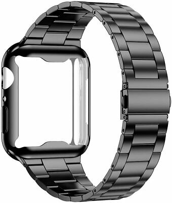 Metal Band Strap With Protector Case For Apple Watch iWatch Series 6 5 4 3 2 SE