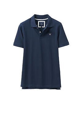 Crew Clothing Mens Melbury Solid Polo Shirt in White RRP £37 Large