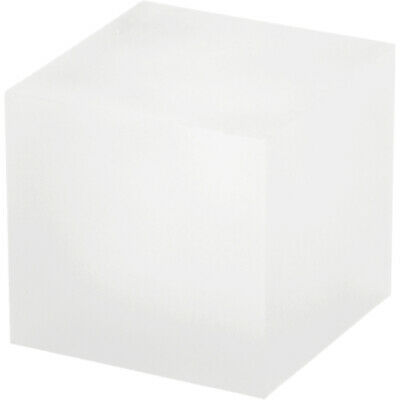"""Plymor Frosted Polished Acrylic Square Display Block, 2"""" H x 2"""" W x 2""""D (2 Pack)"""