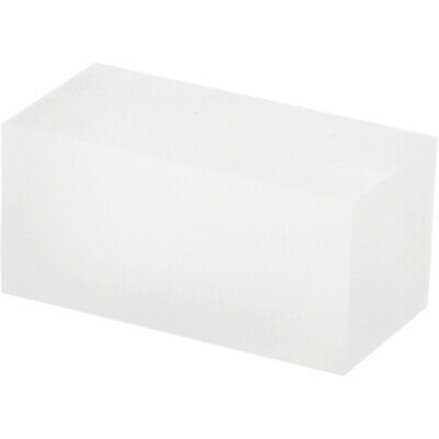 """Plymor Frosted Polished Acrylic Rectangle Block 1.5""""H x 1.5""""W x 3""""D (2 Pack)"""
