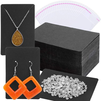 Earring Cards, Anezus Earring Packaging Holder Cards Earring Display Cards with