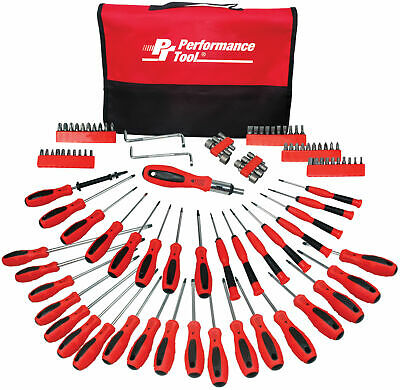 Performance Tool 100-PC SCREWDRIVER SET WITH POUCH - W1721
