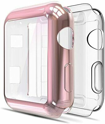 Pack of 2 Soft Screen Protector Bumper Case Compatible with Apple Watch 38mm Ser