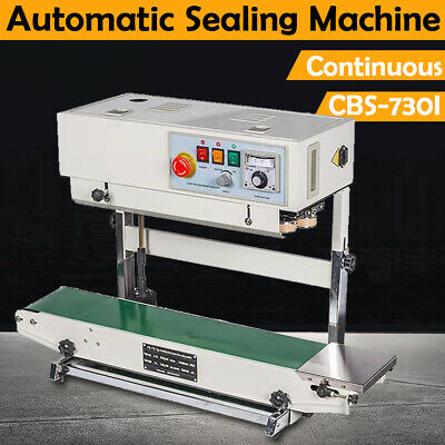 Stainless Steel CBS-730 Vertical Sealing Machine 110V Continuous Band Bag Sealer