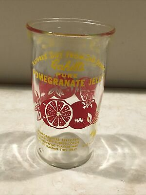 Cahills Pure Pomegranite Jelly Glass 1958 Phoenix Az.