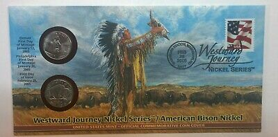 2005 P & D Westward Journey American Bison Nickels ☆☆ First Day Cover ☆☆