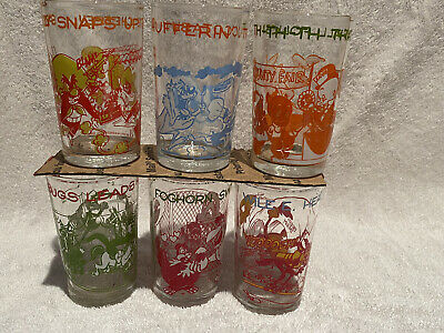 Welch's Looney Tunes Jelly Glasses - Set of 6 from 1974