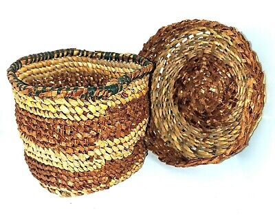 Lot of 2 Antique Native American Baskets- Small