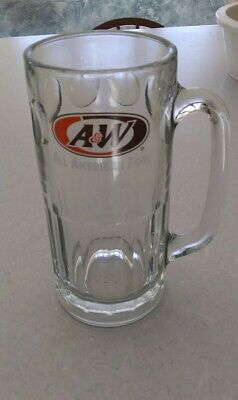 "A & W ROOT All American Food BEER GLASS MUG STEIN 7"" tall"
