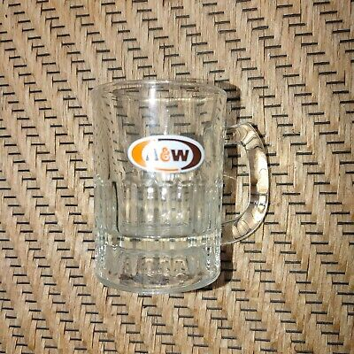 Vintage A & W Root Beer MIni Glass Mug 3 1/4- Logo.