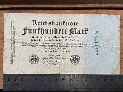 Germany 500 Mark 7.7.1922 P#74b - Early Inflation Note