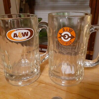 A&w Rootbeer Mugs Arrow Logo And Regular Logo