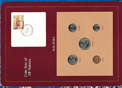 Coin Sets of All Nations Malaysia w/card 1981-1983 UNC 1, 50 Sen 1983