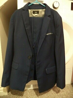 River Island boy's 3 pieces suit set size 11 years, navy