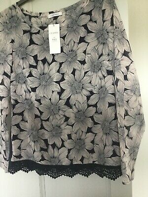 3 X  New M/&S Ladies Lace Trim Strappy  Sage Floral  Top SIZE 8 ONLY