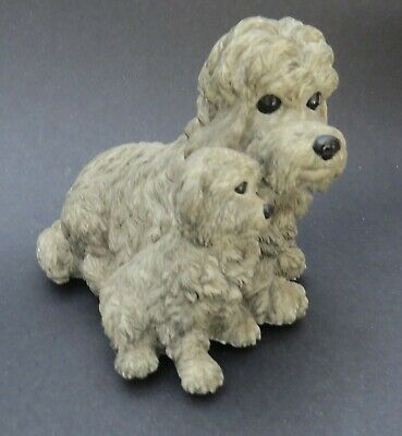 Vintage Dog GRAY POODLE MUSIC BOX Are You Lonesome Tonight Works