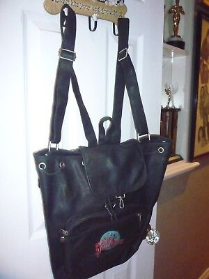 *Celebrity owned RARE retro Planet Hollywood faux leather handbag/purse/backpack