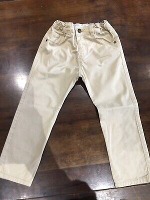 Baby Boys Zara Skinny Chino Trousers- Age 2-3 Yrs - Beige Colour