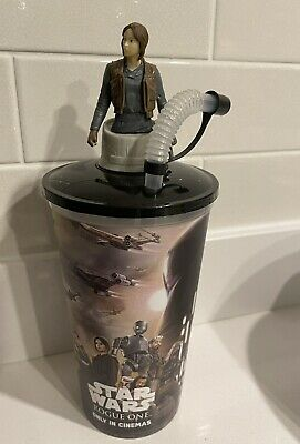 Star Wars Rogue One Cinema Promo Cup With Character Topper - Jyn Erso - Unused