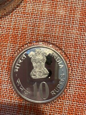 India - 1973 B - 2 COINS  Silver Proof Set 10 & 20 Rupees