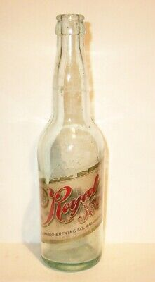 Kalamazoo Brewing Co. ROYAL BEER Paper Label Pre Pro Bottle. Michigan Mich Mi