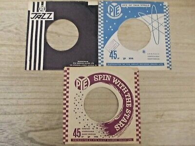 "3 Original PYE 7"" company record sleeves"