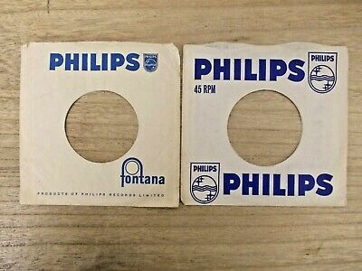 "2 Original PHILIPS 7"" company record sleeves"
