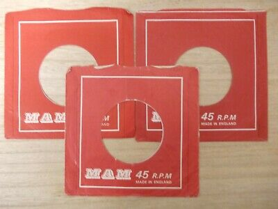 "3 Original Mam 7"" Company Record Sleeves"