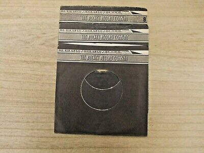 "3 Original ROCKET 7"" company record sleeves"