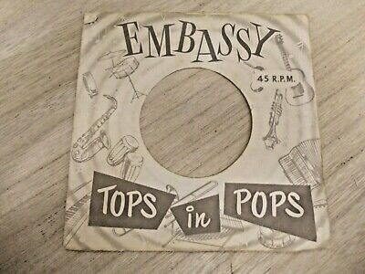 "1 Original Embassy 7"" Company Record Sleeves"