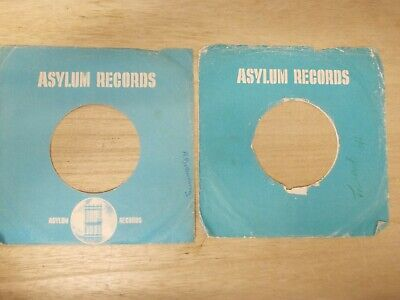 "2 Original Asylum 7"" Company Record Sleeves"