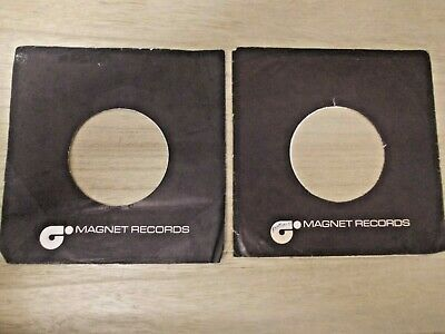 "2 Original Magnet 7"" Company Record Sleeves"