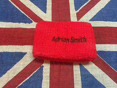 Iron Maiden Adrian Smith Genuine Wristband Sweatband Late 80's           666 lp9