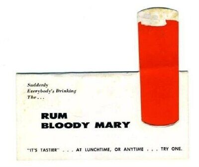 BACARDI Rum Bloody Mary Table Top Tent Card
